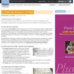 L'Édit de Nantes (1598)