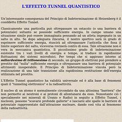 L'EFFETTO TUNNEL QUANTISTICO