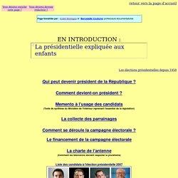 L'élection présidentielle 2007