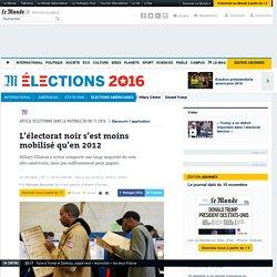 L'électorat noir s'est moins mobilisé qu'en2012