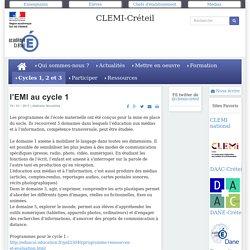 CLEMI-Créteil - l'EMI au cycle 1