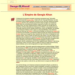 L'empire de Gengis Khan.