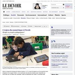 L'enjeu du numérique à l'école