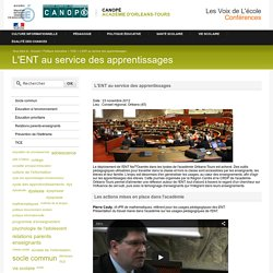 L'ENT au service des apprentissages