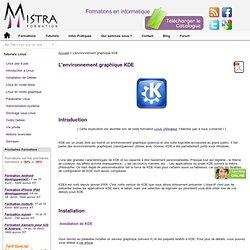 L'environnement graphique KDE