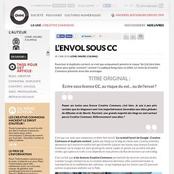 digital journalism » Article » L'envol sous CC