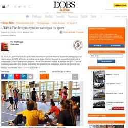 L'EPS à l'école : pourquoi ce n'est pas du sport