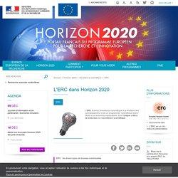 L'ERC dans Horizon 2020