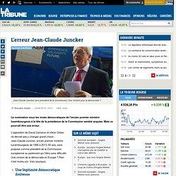 L'erreur Jean-Claude Juncker