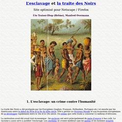 L'esclavage et la traite des Noirs