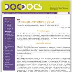 L'espace informationnel du CDI