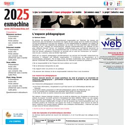 Jeu sérieux 2025Ex-Machina: accompagnement pédagogique