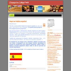 L'Espagnol au Collège Pardé