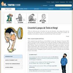 L'essentiel sur Tintin et Hergé