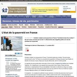 L'état de la pauvreté en France