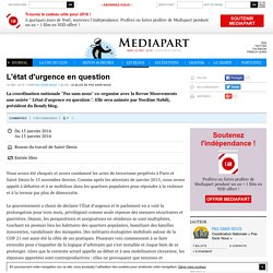 L'état d'urgence en question