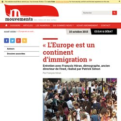 « L'Europe est un continent d'immigration »