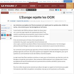 L'Europe rejette les OGM