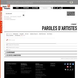 L'évènement Paroles d'artistes