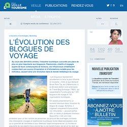 » L'évolution des blogues de voyage
