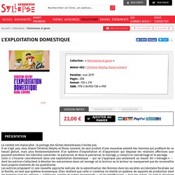 L'exploitation domestique - Editions Syllepse