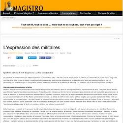 L'expression des militaires