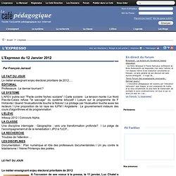 Expresso du 12 Janvier 2012