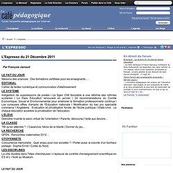 Expresso du 21 Décembre 2011