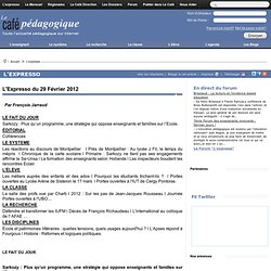 Expresso du 29 Février 2012