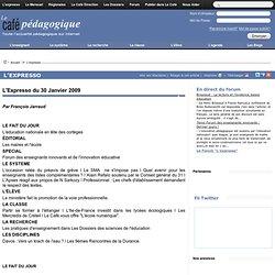 L'Expresso du 30 Janvier 2009