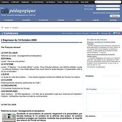 Expresso du 14 Octobre 2009