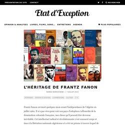 L'héritage de Frantz Fanon
