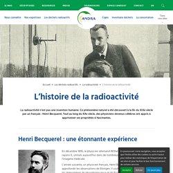 L'histoire de la radioactivité - Site de l'ANDRA