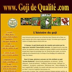 L'histoire du goji
