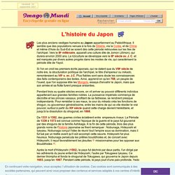 L'Histoire du Japon.