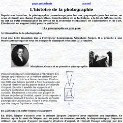 L'histoire de la photographie