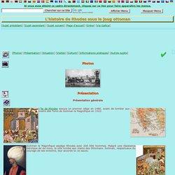 L'histoire de Rhodes sous le joug ottoman