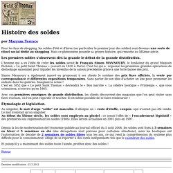 L'Histoire des soldes