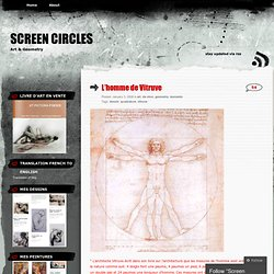 L'homme de Vitruve « Screen Circles