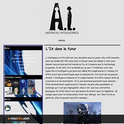 L'IA dans le futur