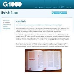 Le G1000 Le manifeste