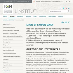 L'IGN et l'Open Data