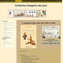 L'imagerie des Jeux de 1920 à 1950 - GPFM