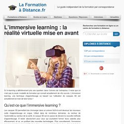 L'immersive learning est l'avenir de l'e-learning