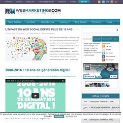 ▷ L'impact du web social depuis plus de 10 ans #AvenirDigital #10ansWebCom
