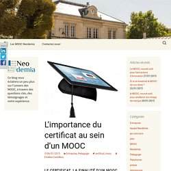 L'importance du certificat au sein d'un MOOC