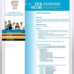 L'individualisation - CFA 41