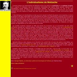L'individualisme de Nietzsche
