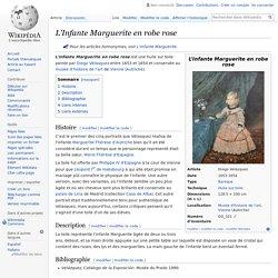 L'Infante Marguerite en robe rose
