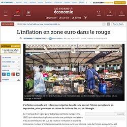L'inflation en zone euro dans le rouge